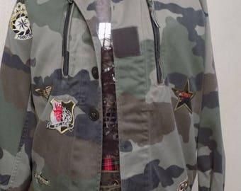 Cotton canvas military jacket