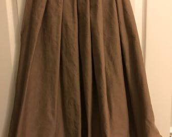 Civil War 1860s Teen/Ladies Brown work petticoat