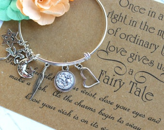 Love Gives Us A Fairy Tale Wish Bangle, Wish Upon Your Wrist, Wish Bangle, Fairy Tale Jewelry, Fairy Wish Bangle, Gifts For Her