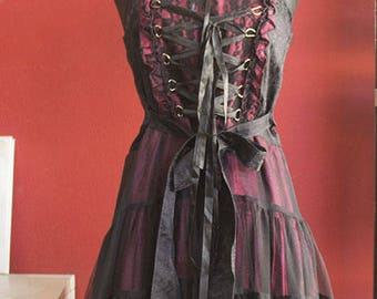 Gothic 90's Dress with collar