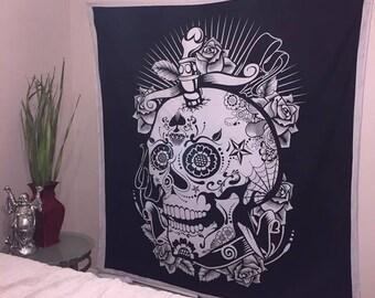 Suger Skull Tapestry