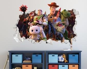 Toy Story Woody Buzz Lightyear Disney Movie Wall Decal   Toy Story Smashed  Sticker   Kids Part 86