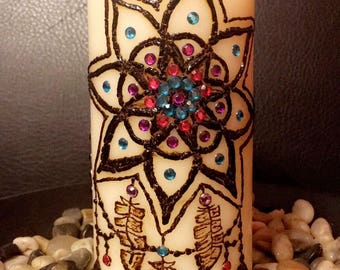 Henna Candle - Dream Catcher/Feather Birds