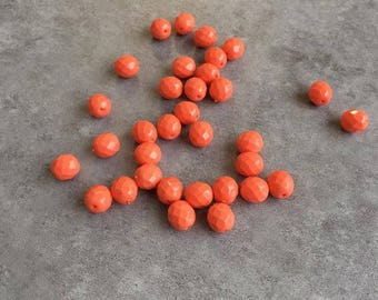 Faceted 8mm coral beads set
