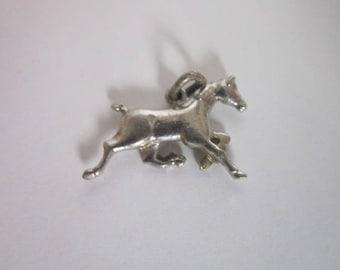 Old Sterling Silver Prancing Horse Charm Bracelet Charm