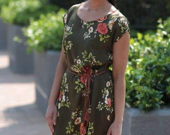 Yolandi Tunic Dress Olive