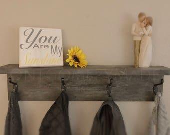 Farmhouse style shelf  and coat hanger