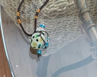 Cremation urn necklace  murano glass, perfume, essential oils and aromatherapy bottle
