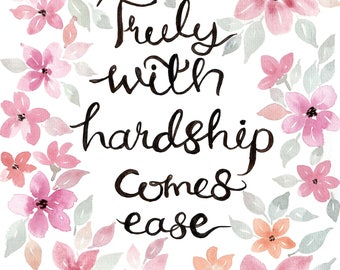 Truly with Hardship Comes Ease - A4