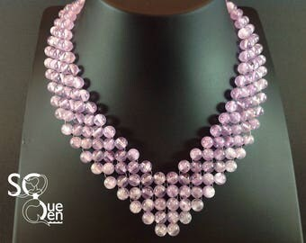 Natural gemstones - Amethyst necklace