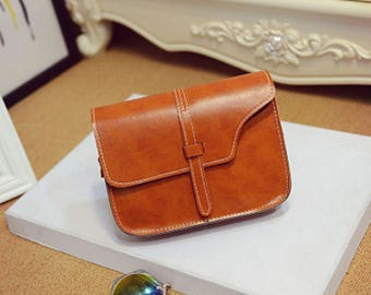 Shoulder clutch bag Purse small Basic eco faux leather leather Colors