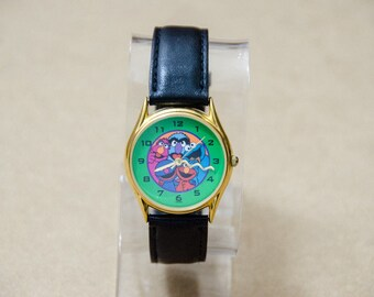 Super Rare Vintage Sesame Street General Store Elmo Cookie Monster Grover Watch