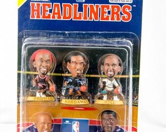 NBA Headliners Eastern Conference Standouts Figures Rodman Miller Hardaway Ewing