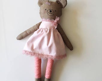 Bear - handmade soft doll