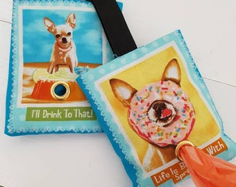 Chihuahua Design Poop Bag Holders with dispenser