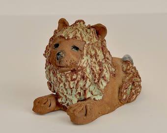 Ceramic lion//Leo the Lion figurine
