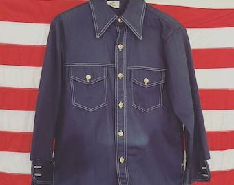 "Vintage 70's ""Bar C"" Mens Western Wear Barn Coat"
