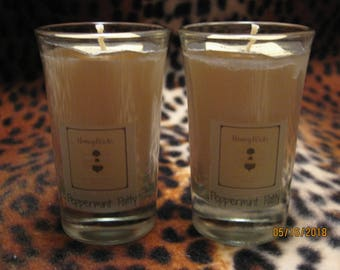Peppermint Patty fragranced Natural Soy Candle