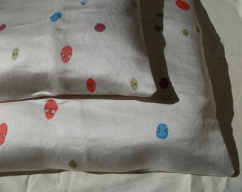 """Monsters spots"" square pillow cover"