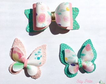 Bow glitter Floral pink mint pastel collection