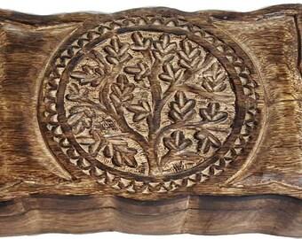 "Tree of Life Herb/Tarot box 6"" x 9"""