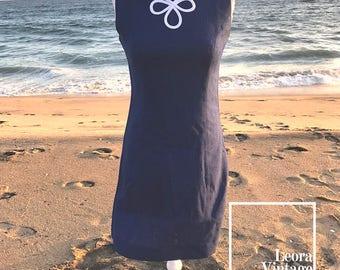 1960s Blue Shift Dress/ Vintage Dress