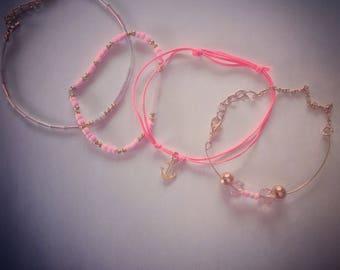 Four summer bracelets
