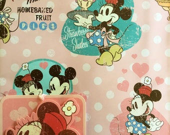 Vintage Minnie Mouse XL Sheet Gift Wrapping Paper
