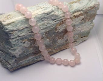 Vintage Pink Gemstone Necklace