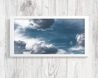 "Cloud Photography 10""x20"" *Photography Printables* Cloud Print - Cloud Wall Art - Sky Photography - Nature Photography - Fine Art Print"