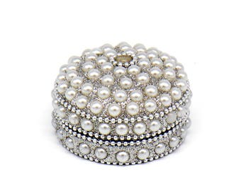 Jewelry box, Jewellery box, Pearls Jewellery box ,Jewellery, Women accessories, Gift, Metal Jewelry box ,Bridal gift, wedding gift, gift