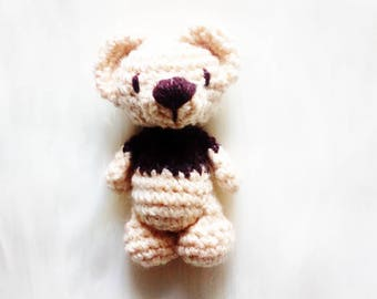Stuffed bear - amigurumi bear - crocheted teddy bear original design