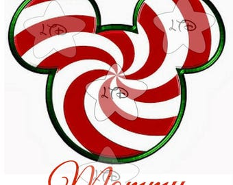 Mickey Christmas Swirl Transfer