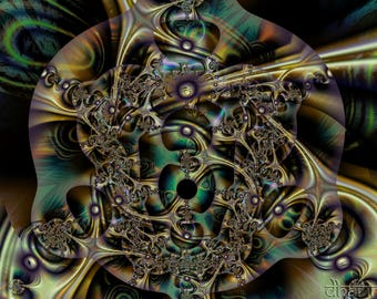 Vision of Buddha One of a kind Digital download Fractal art Instant download Ultrafractal Psychedelic art Print yourself JPEG Wall decor