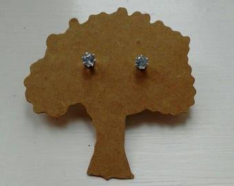 Light blue topaz stud earrings