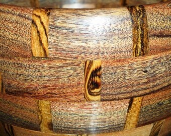Wooden Bowl Made from Honduran Rosewood and Honduran Bocote