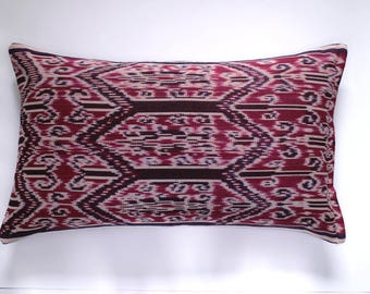 decorative pillow | 16x26 | pillow cover | pink black blue white | woven | sham | cushion cover | throw pillow | home decor | gift for her