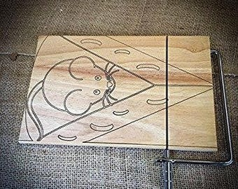 Mouse Beech Cheese Cutting Board