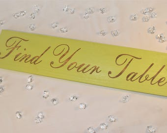 Engraved Find Your Table Sign | Wedding | Table | 22x5 | Wedding | Decor | Pallet Wood | Laser | Engraved |