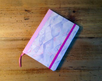 80's Pink & Purple Fabric Covered Journal