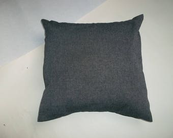 Black Heather fabric pillow cover