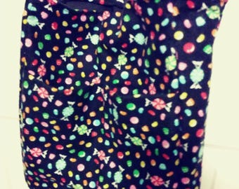 Candy print bag with front pockets