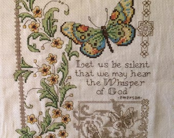 The Whispers Of God counted cross stitch