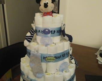Diaper Cake- It's a Boy!