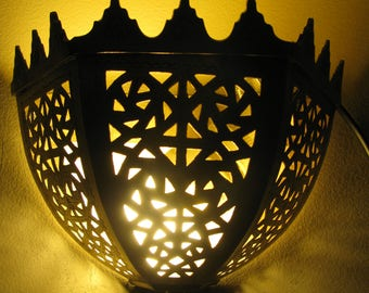 Moroccan brass wall Sconce  made by hand of fez Art designer
