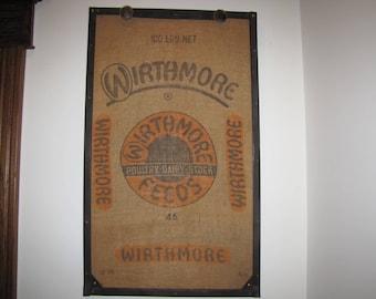 Antique Framed Feed Bag