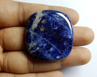 Amazing Quality Natural Sodalite Square Cabochon 33x31x6 MM Size AAA+++ Quality 49.90 Carat Square Shape Blue Color Loose Gemstone BW1