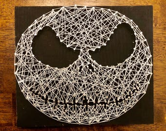 Jack skellington nightmare before Christmas string art