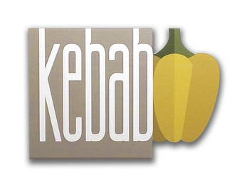 Kebab - Kebab sign, Shop sign, Wall signs, Food signs, Wooden signs, Signs kitchen, Wall art, Wall decor | Tropparoba - 100% made in Italy