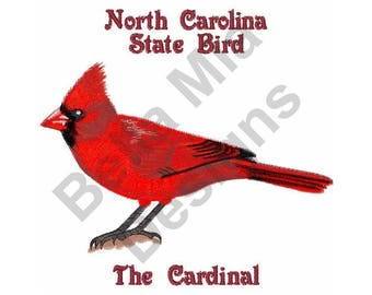 bird machine embroidery design cardinal north carolina state bird